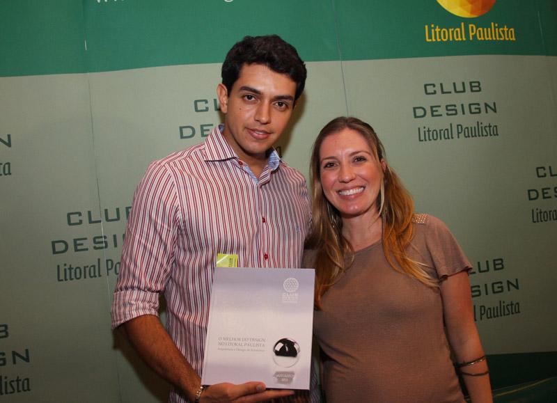 Juliano Ferraz (Senac) e a profissional Letícia Paiva